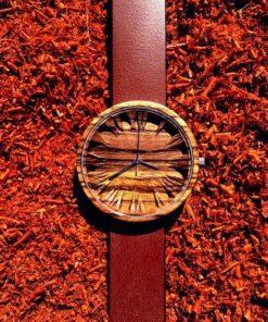 Zebrano Colors koka pulkstenis