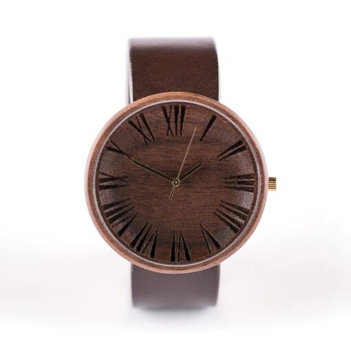 excelsa dark wooden watch handmade by ovi watch