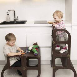 virtuves pakāpiena tornis bērniem