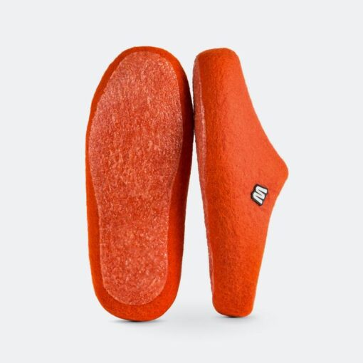 orange woolig slippers