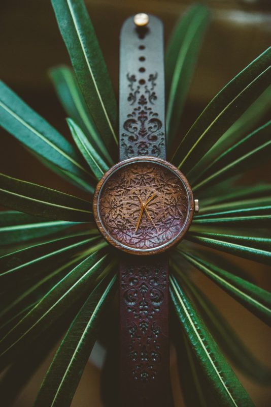 wooden watch Mandala King