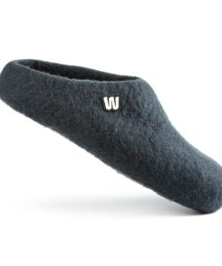 wool slippers graphite gray