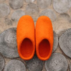 wool slippers orange