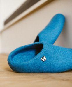 woolen slippers blue