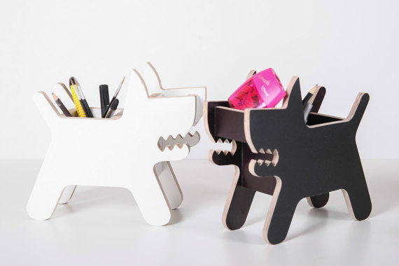 dog desk organizer for kids
