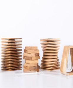 flower vases from wood