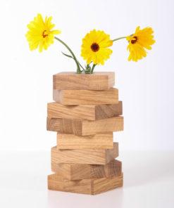 wooden-flower-vase