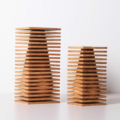 modern wooden flower vase