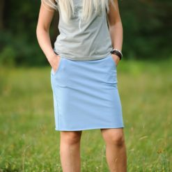 trikotāžas svārki Gaiši zili